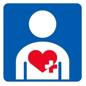 Heart plus symbol
