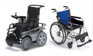 Manual and electric wheelchair