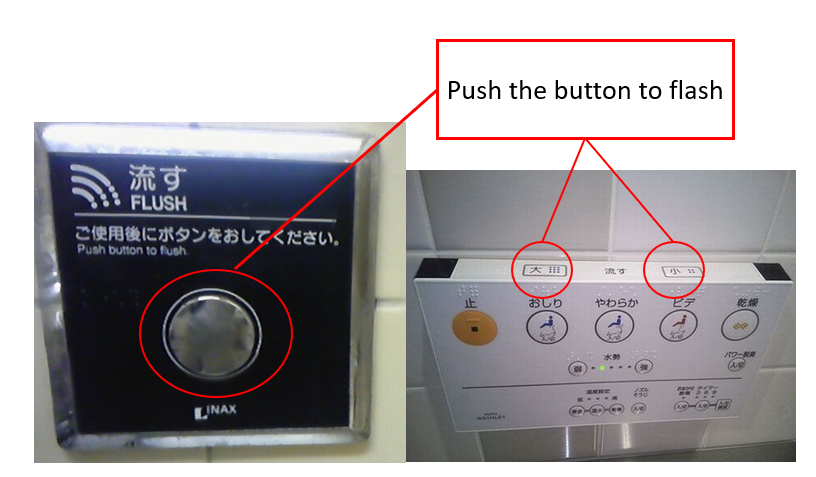 button in bathroom