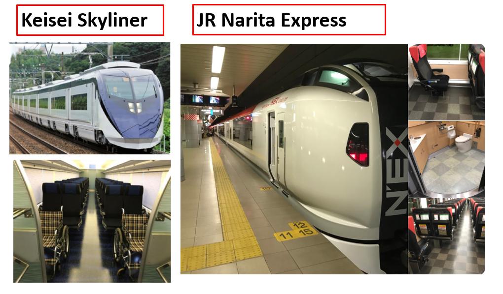 keisei skyliner and JR Narita Express