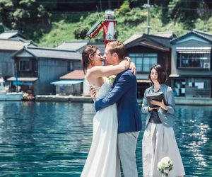 You can have a wedding ceremony in Japan